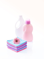 laundry detergents and fresh towels