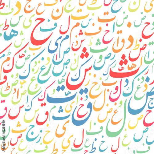 arabic alphabet texture background