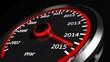 Conceptual 2015 year speedometer