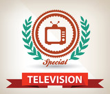 Television badge,vector