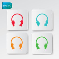 Earphone buttons,vector