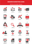 Modern Marketing Icon set,Red version