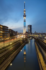 Tokyo city view and tokyo skytree