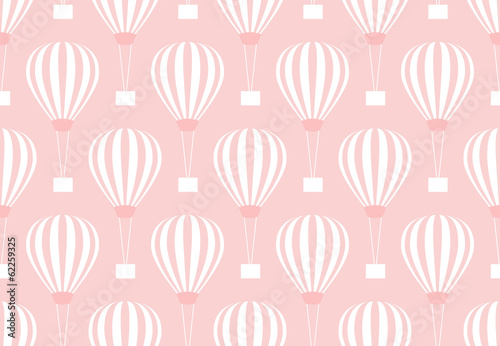 Retro seamless travel pattern of balloons - 62259325