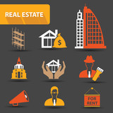 Real estate icons,vector