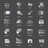 Web design,Web service icons,vector