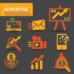 Advertise icons,vector