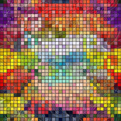Seamless colorful mosaic pattern