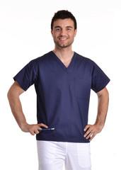 Retrato de un joven médico enfermero.