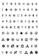 esoteric symbols and crosses