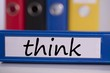 Think on blue business binder