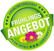 """Button Banner """"Frühlingsangebot"""" grün/pink"""