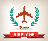 Airplane badge,vector