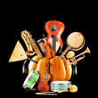 Collage of music, jazz band and musical instruments - 62261793