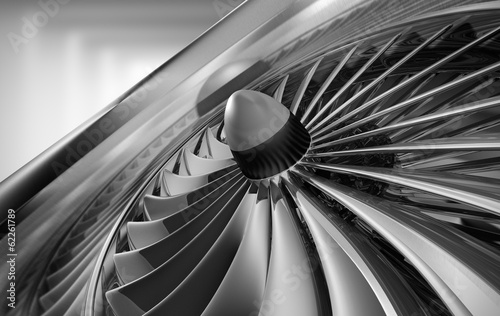 Leinwanddruck Bild Turbine 1