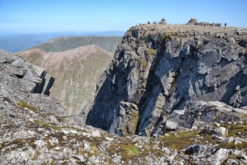 Ben Nevis summit - the highest mountain in the United Kingdom