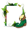 Leprechaun shoe and gold coins