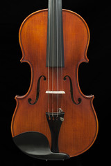 front of the violin