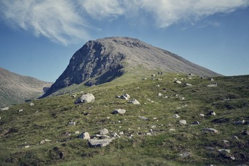 Ben Nevis - filtered picture of the highest mountain in Britain
