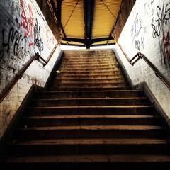 Bahnsteig Treppe