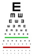 Snellen Eye Chart Test Used In Young Children