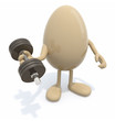 Fotomuralegg does weight training