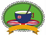 uk tea background sign, great britain