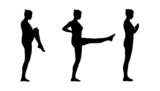 woman practicing yoga silhouettes set 1