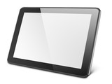 Modern black tablet pc isolated on white