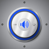 Blue color light volume control button
