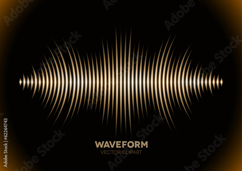 Sepia sound waveform