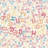 thai alphabet texture background