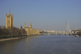 View of the Houses of Parliament from the thames