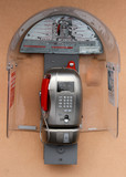 coin-operated phone with phone booth