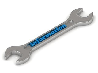 Information - 3d inscription on metallic spanner