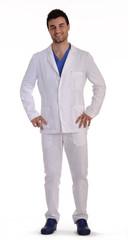 Retrato de un médico,doctor.enfermero en fondo blanco.