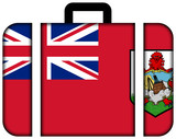 Suitcase with Bermuda Flag