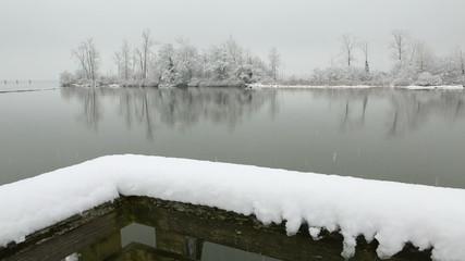 Fraser River Snow, Richmond, BC