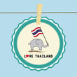 Elephant hold Thai flag6