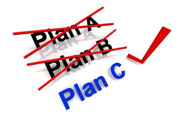 Plan Selected 3D render