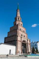 Suumbike Tower in Kazan Kremlin. Russia