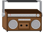 Wooden radio vector