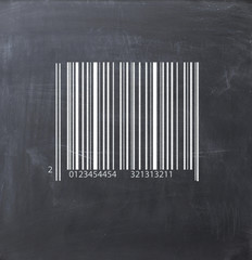 Bar code logistics on a blackboard
