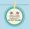 Two elephants hold Thai flag2