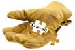 gant de chantier, concept recherche d'emploi