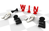 Win Enenmyr Chess word 3D render
