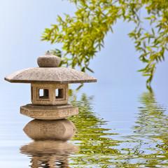 Lanterne japonaise, reflets
