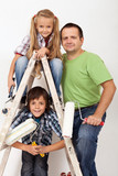 The painters task force - happy kids and their father