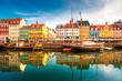 canvas print picture - Nyhavn Kopenhagen
