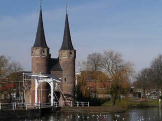 The east gate in Delft in the Netherlands